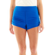 City Streets® Ruched Shorts - Plus