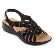 Yuu™ Jannie Open-Toe Sandals in Wide Width