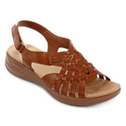 Yuu™ Jannie Open-Toe Sandals in Wide Width