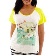 Stylus™ Short-Sleeve Slub Knit Graphic T-Shirt - Plus