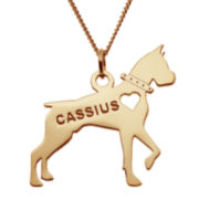 Personalized Boxer 14K Yellow Gold Over Sterling Silver Pendant Necklace