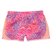 Xersion™ Pink Zebra-Print Running Shorts - Girls 7-16 and Plus