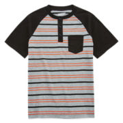 Arizona Striped Henley Tee - Boys 8-20
