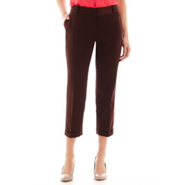 jcpenney.com | Liz Claiborne® Sateen Cropped Pants - Tall