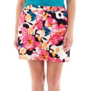 St. John's Bay® Floral Print Twill Skort - Plus
