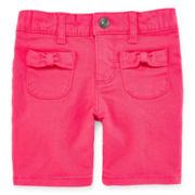Arizona Bow Pocket Bermuda Shorts – Girls 2t-5t