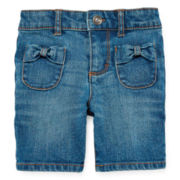 Arizona Bow Pocket Bermuda Shorts - Girls 2t-5t