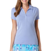 PGA Tour® Short-Sleeve Ruched Golf Top