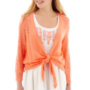 Arizona 3/4-Sleeve Slub Cardigan