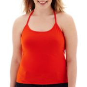 Arizona Sleeveless Halter Top - Juniors Plus
