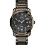 Timex® Mens Gunmetal Round Watch