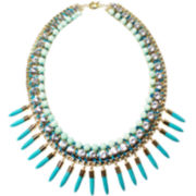 ZOË + SYD Two-Tone Blue Jade Spike Necklace
