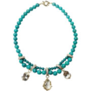 ZOË + SYD Turquoise & Crystal Teardrop Necklace
