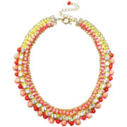 ZOË + SYD Two-Tone Coral & Crystal Necklace