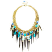 ZOË + SYD Turquoise & Blue Jade Dagger Statement Necklace