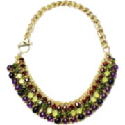 ZOË + SYD Amethyst & Multicolor Bead Necklace