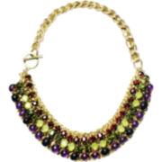 ZOË + SYD Genuine Amethyst and Multicolor Bead Necklace