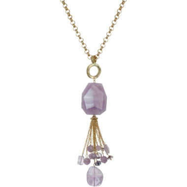 jcpenney.com | ROX by Alexa Purple Cape May & Glass Tassel Necklace