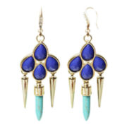 ZOË + SYD Blue Howlite Dagger Drop Earrings