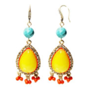 ZOË + SYD Multicolor Teardrop Dangle Earrings