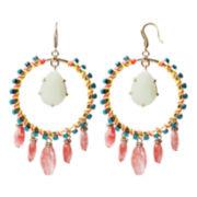 ZOË + SYD Red Glass Dangle Earrings