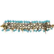 ZÖE + SYD Turquoise & Pearlescent Spike Magnet Bracelet