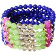 ZOË + SYD Green & Pink Jade Multi-Row Bracelet