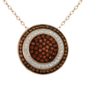 Rose & Chocolate Crystal Circle Pendant