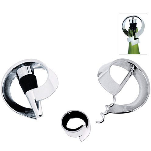 Natico Moebius Spiral 3-pc. Wine Accessory Set