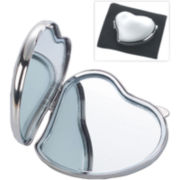 Heart-Shaped Silver Polished Mirror