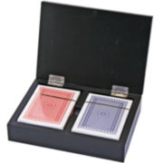 Playing Card Set with Wood Holder
