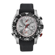 Bulova® Precisionist Mens Black Silicone Strap Chronograph Watch 98B210