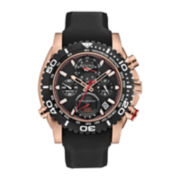 Bulova® Precisionist Mens Black Silicone Strap Chronograph Watch 98B211