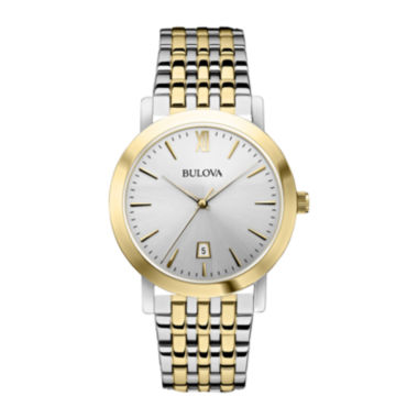 jcpenney.com | Bulova® Mens Two-Tone Stainless Steel Watch 98B221