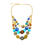 Mixit™ Multicolor Stone Bib Necklace