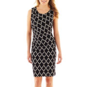 Worthington® Sleeveless Print Sheath Dress