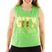 City Streets® Graphic Muscle Tank Top - Plus