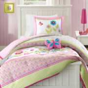 MiZone Sweet Flower Reversible Comforter Set