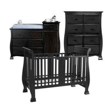 jcpenney.com | Savanna Bella 3-pc. Baby Furniture Set - Black