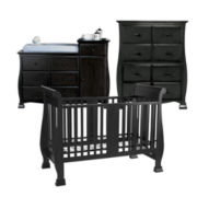 Savanna Bella 3-pc. Baby Furniture Set - Black