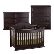 Rockland Austin 3-pc. Baby Furniture Set - Merlot