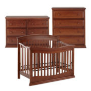 Rockland Easton 3-pc. Baby Furniture Set - Cocoa