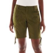 St. John's Bay® Cargo Bermuda Shorts - Tall