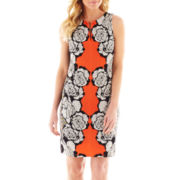 Worthington® Sleeveless Split-Neck Print Dress