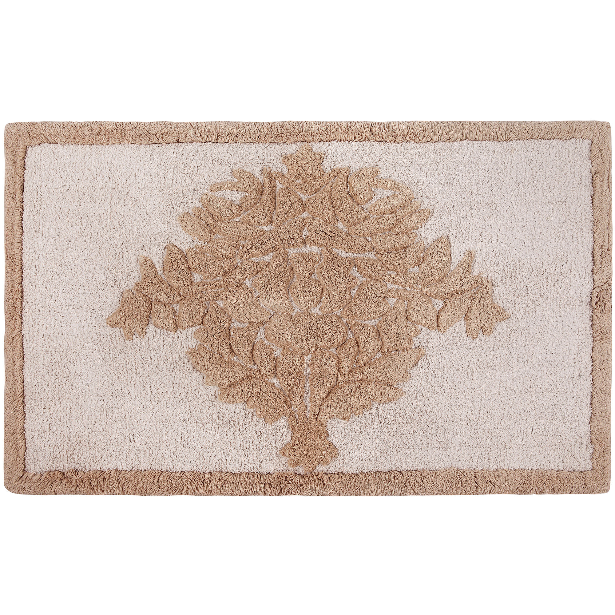 Product Image For Queen Street Bianca Damask Bath Rug
