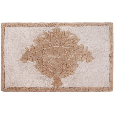 Queen Street Bianca Damask Bath Rug
