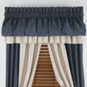 jcp home™ Supreme Antique Satin Rod-Pocket Blouson Valance