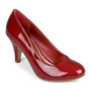 Journee Collection Mavis-5 Patent Pumps in Wide Width