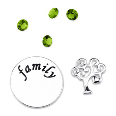 jcpenney.com | Footnotes Too® Additional Green Crystal Family Tree Charm Set