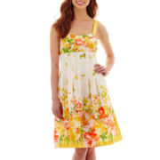 R&K Originals® Sleeveless Sweetheart-Neck Pleated Sundress
